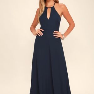 Lulu's Beauty and Grace Navy Maxi Dress